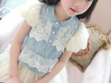 童装2014新款女童春夏装韩版牛仔裙子批发免费代理一件代发YX1