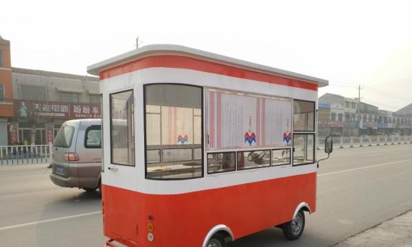 移动展示架 小吃车房车四轮 多功能移动餐车 早餐车房车