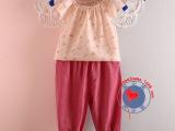 90cm-120cm女童韩版纯棉背心上衣无袖衬衫超薄飞袖系带吊带
