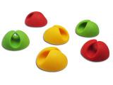 供应六件套固线器6个装彩色万能创意桌面固线夹
