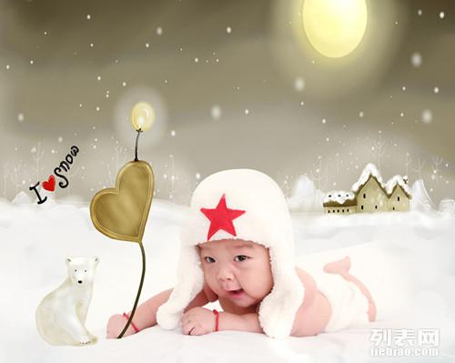 时尚儿童摄影,特价宝宝满月照百天照理胎毛