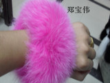 厂家直销狐狸毛袖口 兔毛鞋扣秋冬服装专用真毛皮草可批发热卖