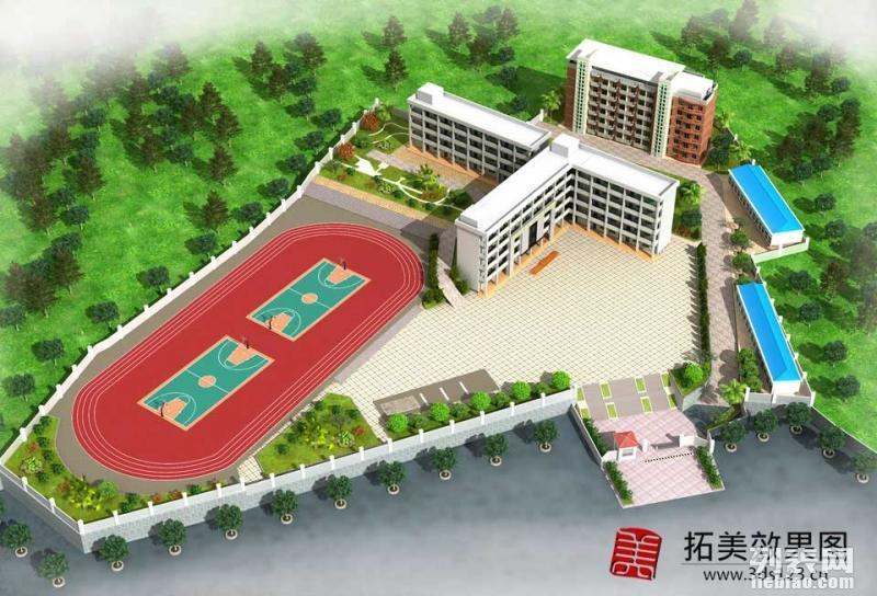 代做沧州效果图制作 幼儿园校园规划效果图 多媒体电教室效果图