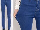 2015年春装新款牛仔裤女长裤显瘦弹力韩版小脚裤大码铅笔裤潮