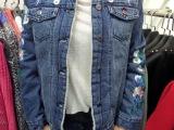 韩国女装 2014新款 外贸原单 高端牛仔加绒 外套批发 一件代