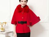 中老年秋季新款大衣女 韩版修身中老年大衣 韩版纯色羊毛大衣秋款