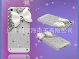 【厂价直销】进口水晶钻 苹果iPhone5蝴蝶结手机壳贴钻手机保