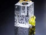 水晶烛台商务水晶礼品企业logo定制
