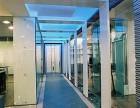 广州科学城办公室装修天花吊顶石膏板隔断铝合金玻璃隔断