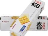 韩国进口零食品 可来运crown太口咸苏打饼干代餐食品酥饼干