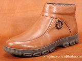厂家直销  秋冬季休闲皮鞋真皮英伦时尚男靴头层小牛皮高帮男靴
