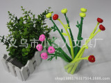 较新款韩版创意文具玫瑰花造型中性笔 清新小草笔黑水笔奖品