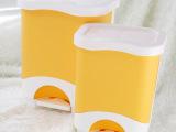 厂家直销 批发时尚脚踏大号垃圾桶 塑料方形翻盖卫生桶