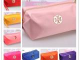 厂家直销量大批糖果色鲜亮化妆包厂家直销带手提尼龙折叠化妆包