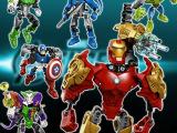 儿童益智拼装积木玩具 超级英雄复仇者联盟 机器人模型 6款全