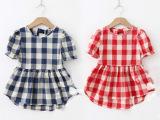 2014 新款 韩版夏装 潮品 童装 连衣 女童 格子裙 批发