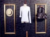 秋季新款韩国东大门款不规则拼接修身弹力纯棉女T恤打底衫