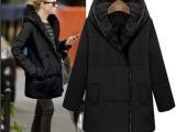 欧洲站2014冬装修身加厚棉衣外套大码保暖棉袄女中长款棉服