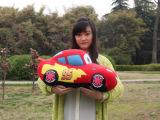 特价批发毛绒公仔汽车总动员 95号闪电麦坤红色汽车公仔抱枕玩具