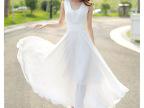 2015春夏季新款大码女装沙滩长裙韩版修身气质雪纺无袖连衣裙3166
