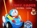 贝恩施正品哆啦a梦卡通遥控车儿童玩具音乐灯光防摔耐撞无线赛车