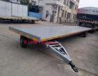 6吨无动力牵引平板全挂拖车 灰色