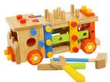 木玩世家百变金刚拆装螺母组合比好拆装工具车木质玩具BH3301