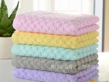 竹纤维童巾 厂家直销批发儿童小毛巾 外贸出口韩国婴幼儿 绣log