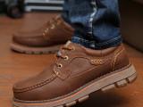 四季款骆驼王头层牛皮皮鞋典范时尚工装鞋休闲外增高大头男鞋鞋子