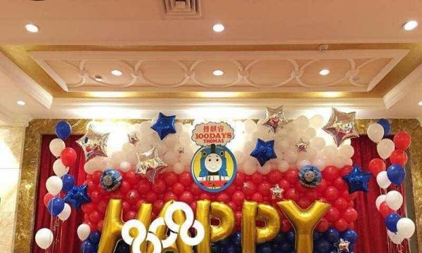 成都氦气球批发商场节庆气球装饰宝宝宴百日宴气球装饰