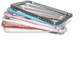 苹果6 镶钻金属边框iphone6 4.7手机壳 单排钻石边框海