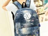 2014新款韩版双肩包  exo背包  xoxo学生书包 男女手