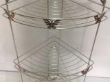 【顺新高级不锈钢】250蝴蝶三层角架 浴室厨房置物架 多用途架