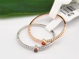 T02287 宝奇娜精品简约细巧心形尾戒 韩版女戒指时尚红钻饰品