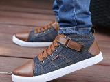 时尚潮流学生款高帮休闲鞋男帆布鞋运动板鞋