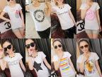 新款韩版女式t恤纯棉印花女T恤库存夏季地摊货源短袖女t批发直销