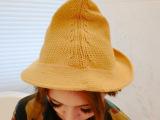 2014韩版简约学院风尖顶针织秋冬保暖款毛线帽子 义乌女士帽子厂
