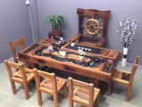 实木大板茶桌椅组合仿古老船木茶台喝茶桌椅