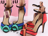 ZARA夏季新款时尚性感超高跟中空鱼嘴凉鞋 真皮女鞋批发 代发