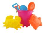 夏季热销大号儿童沙滩玩具7件套 沙滩桶/车套装 儿童戏水益智玩具