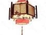 中式古典木艺吊灯 实木羊皮吊灯 国画 茶楼灯具 工程灯9533