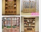 榆木红酒柜隔断柜组合仿古现代装饰柜展示柜实木博古架储物柜