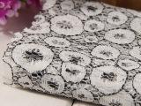 【环保欧标】 61g锦氨锦纶蕾丝面料色织蕾丝无弹蕾丝面料批发