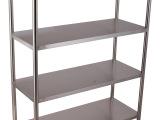 专业生产(拆装式)不锈钢板式四层存放架、层架