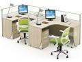 办公桌屏风位批发办公钢架组合桌电脑桌简易双层铁床定制公司