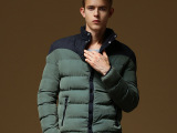 秋冬热销男式拼接立领加厚保暖棉衣棉服韩版户外时尚英伦棉衣纯棉