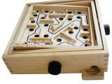 小额批发亲子桌游木制成人益智力迷宫玩具滚珠木质环形平衡游戏