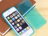 手机壳iphone5苹果5手机皮套 左右翻盖tpu保护壳 透明翻