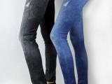 外贸货源仿牛仔打底裤 春季 新款 小脚裤