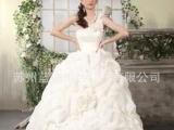 苏州蓝迪婚纱2013年新款单肩蓬蓬花朵抓